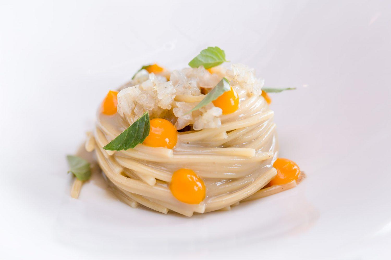 Spaghettino go e zafferano - Piatti Venissa 2017 - Mattia Mionetto
